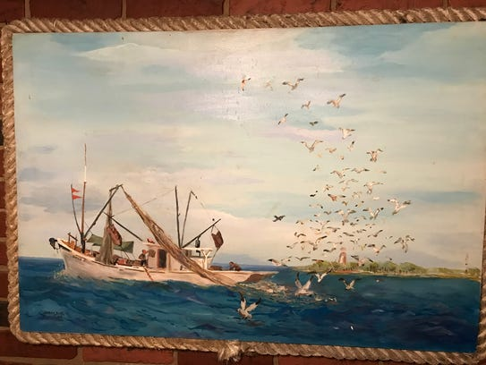 Lamar County Sheriff Danny Rigel enjoys painting seascapes.