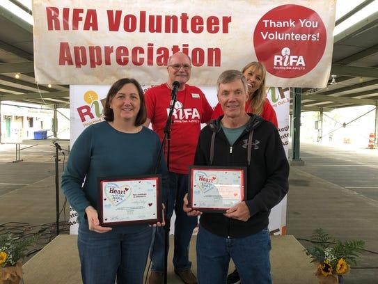 RIFA Executive Director Lisa Tillman and Volunteer