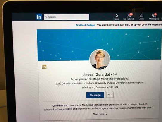 Jennair Gerardot's since-deleted LinkedIn page.