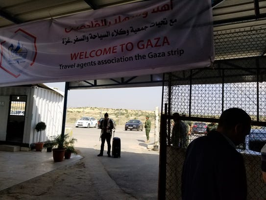 Part of the border crossing into the Gaza Strip is seen during Mark Asplund's 2018 visit.