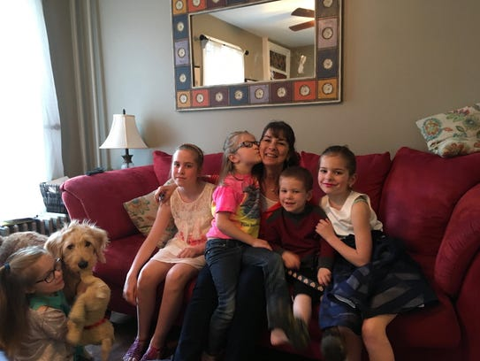 New Jersey-based author Maryann McFadden with her grandchildren