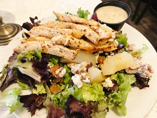 West End Grill's Bartlett Pear Salad with blackened