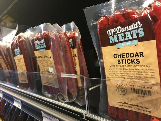 A variety of flavors of meat sticks by McDonald's Meats