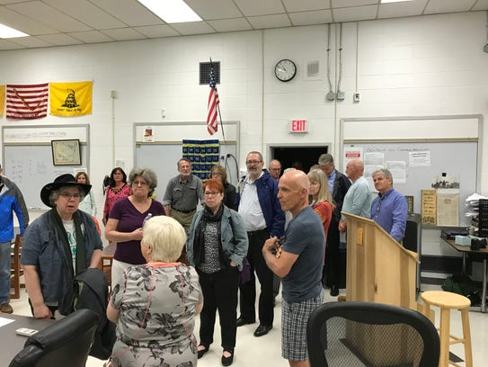 The Class of 1968 visits what is now a Verona High
