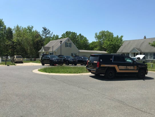 New Castle County Police were on the scene of a Carleton