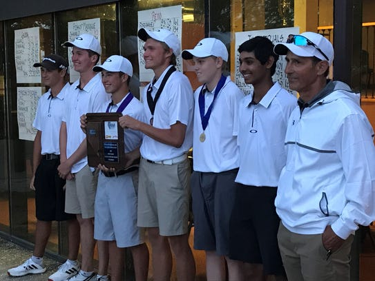 The Galena golf team won its third straight Region