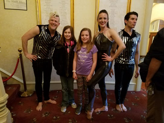 Members of the Acrobats of Cirque-Tacular pose with