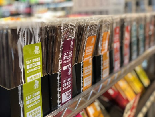 Chocolate bars made by Birmingham Chocolate are sold