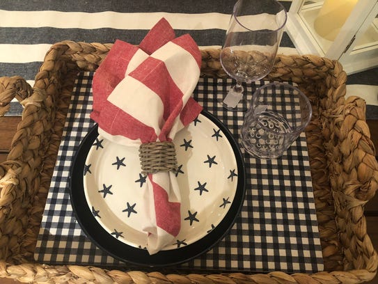 Festive place settings are fun all summer long, not