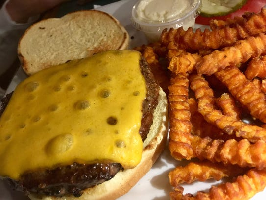 The cheeseburger at Charlie & Jake's in Suntree is