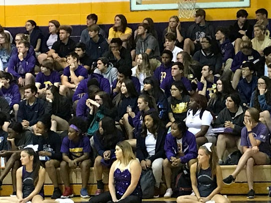 The crowd at the 2018 Benton pep rally for spring sports.