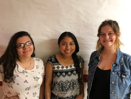 Pictured left to right-Angelica Salazar-Sanchez, delegate,