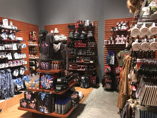 """The gift shop at the """"Star Wars and the Power of Costume"""""""
