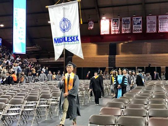 Middlesex County College graduate Luke Agojo.