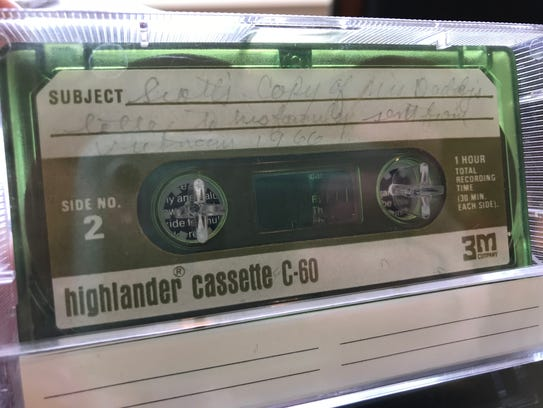 This cassette tape is a copy of the tape Lt. Col. Robert