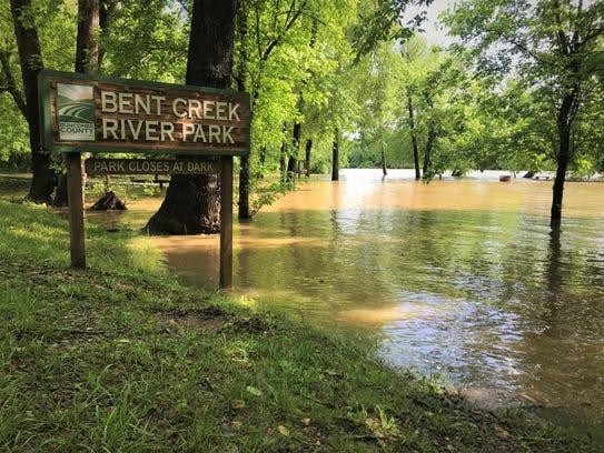 Bent Creek River Park flooding