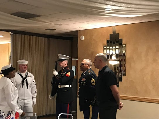 Marines, sailors, soldiers and airmen celebrate Armed