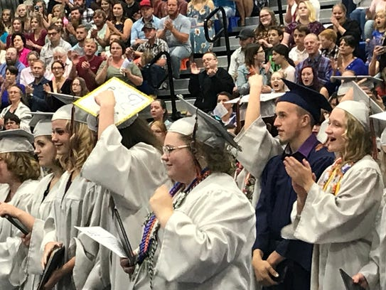 Graduates at Water Canyon High School in Hildale celebrate