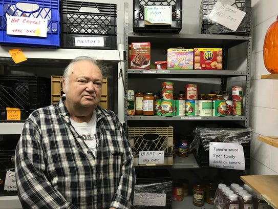 Co-Manager Pat Keating keeps tabs on inventory at St.