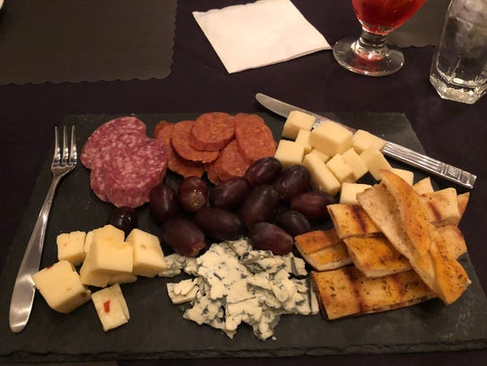 The large cheeseboard at the Lamplighter in Greece