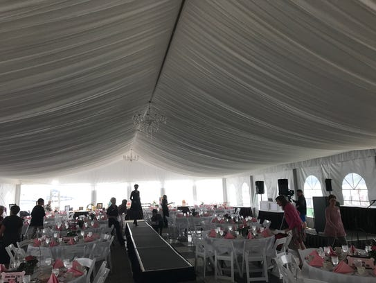 Event tent at Canandaigua Inn on the Lake