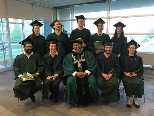 The 10 graduates from Thursday's alternative commencement
