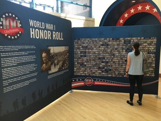The traveling exhibit honoring fallen Iowans who served