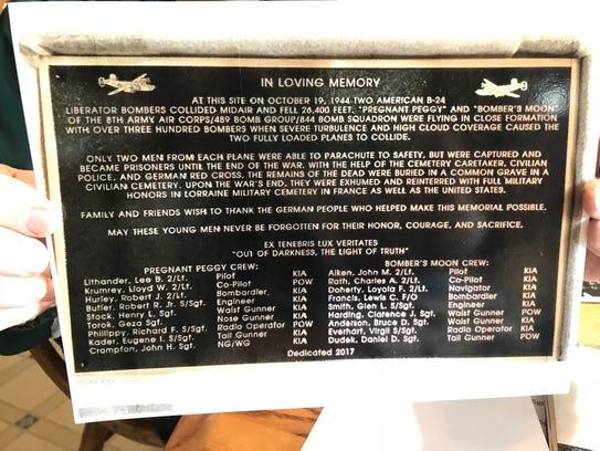 """""""In Loving Memory"""" says the memorial near Edenkoben,"""