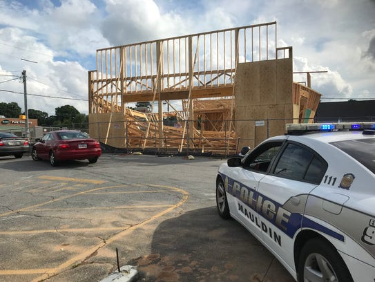 A collapse at a construction site on West Butler Road