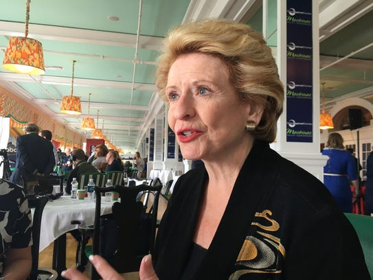 U.S. Sen. Debbie Stabenow on May 30, 2018, at the Mackinac