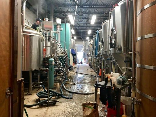 Brewing facilities at Magnify Brewing.