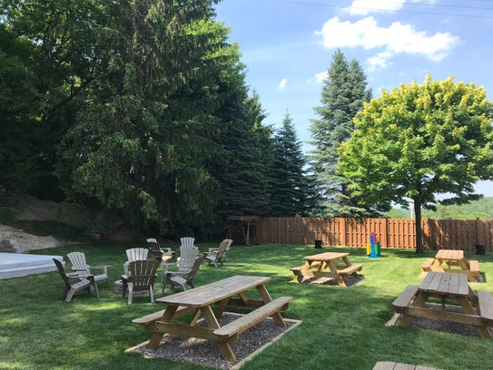 The beer garden at K2 Brothers Brewing will officially