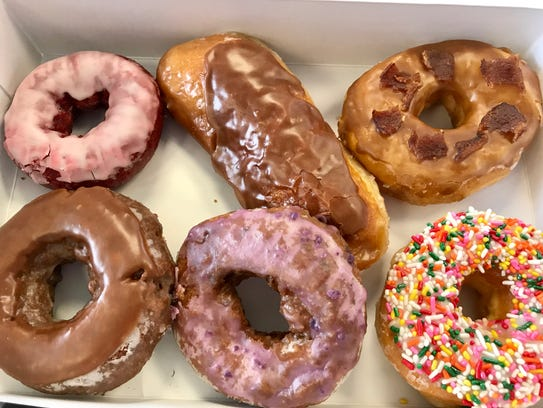TJ's Donut Factory is located inside the Exxon station