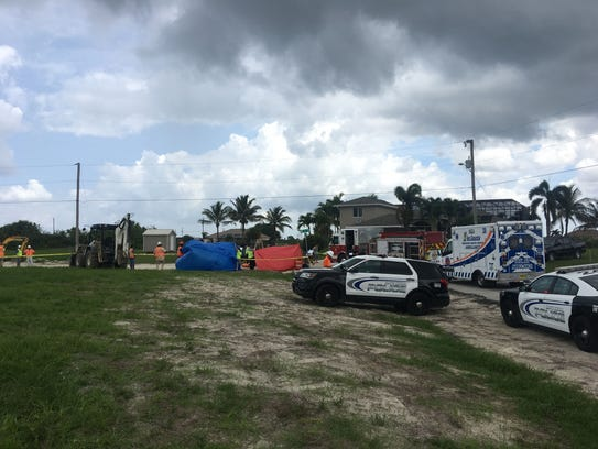 Cape Coral police and emergency medical personnel are