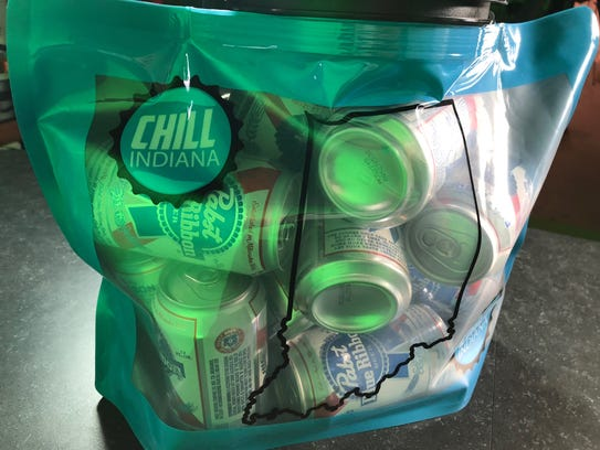 "You can fit A LOT of PBR into a ""Chill Indiana"" bag."