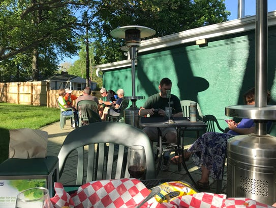The Beer Garden at EagleMonk Pub and Brewery is open
