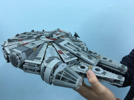 The LEGO Millennium Falcon at The Geekery