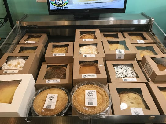 Pies are $5 at Colby's in Rush.