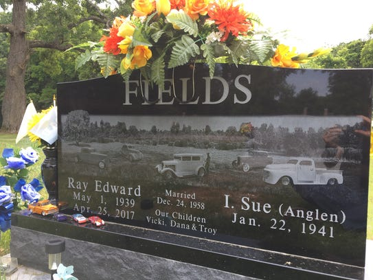 Sue Fields says she wanted a headstone that told the