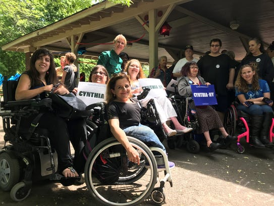 Cynthia Nixon joined disability rights groups in Rochester