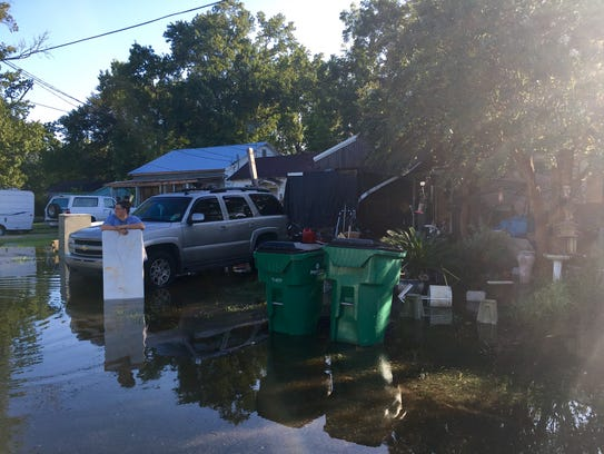 Some Crowley Homes Flooded Water Still Rising Monday