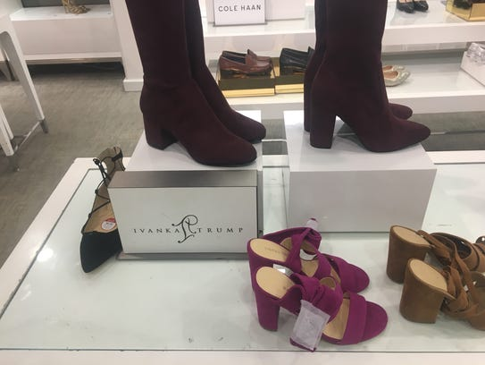 Ivanka Trump footwear on display at the Lord & Taylor