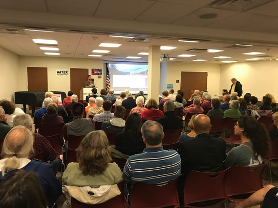 A town hall focused on proposed cuts to the EPA budget drew a large crowd to the main branch of the Parsippany Library