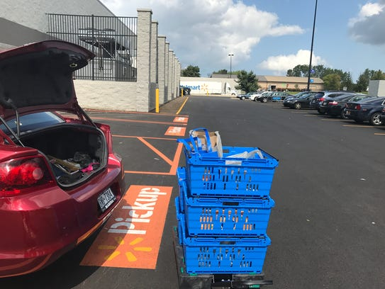 Grocery pickup at Walmart in Henrietta.