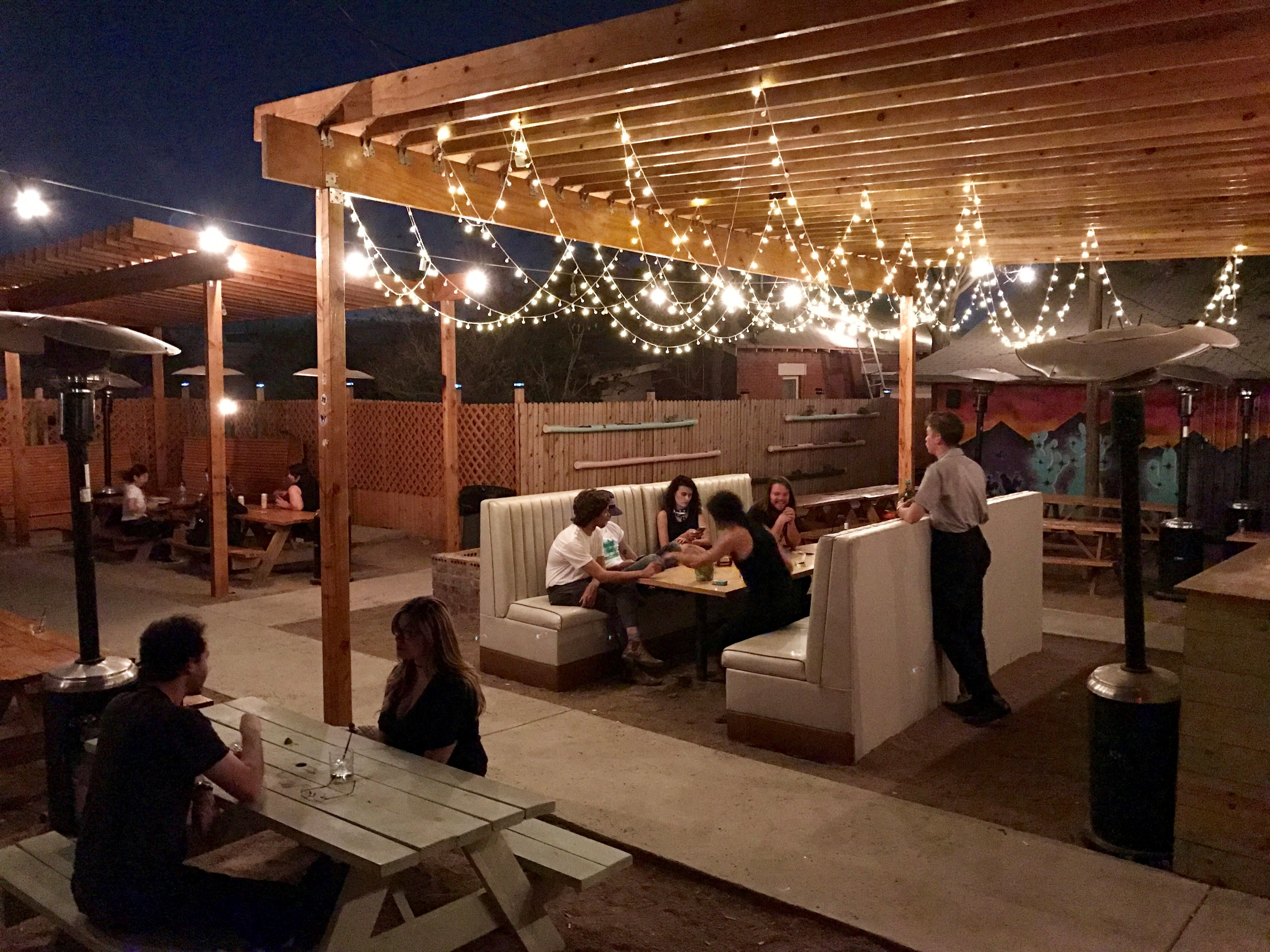 The Large Outdoor Patio At Love Buzz, In The Five Points