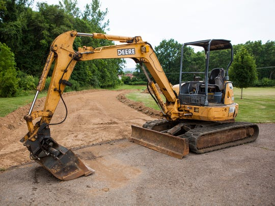 Construction has begun on an access road for a new