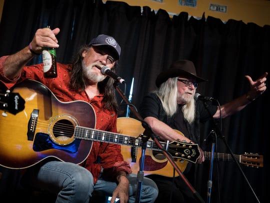 Dave Gibson, left, and John Scott Sherrill, right,