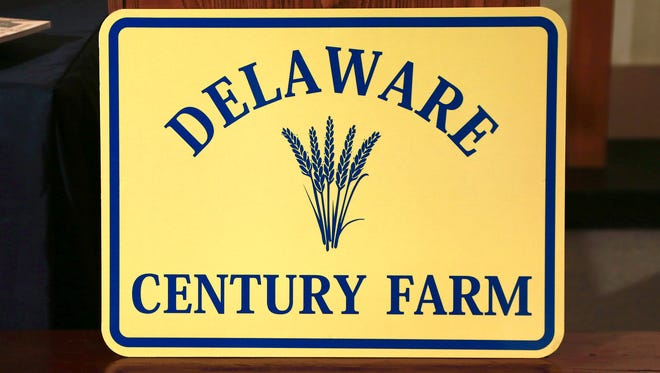 Three farm families were honored as Delaware Century Farms on Tuesday at the Delaware Agricultural Museum & Village in Dover.