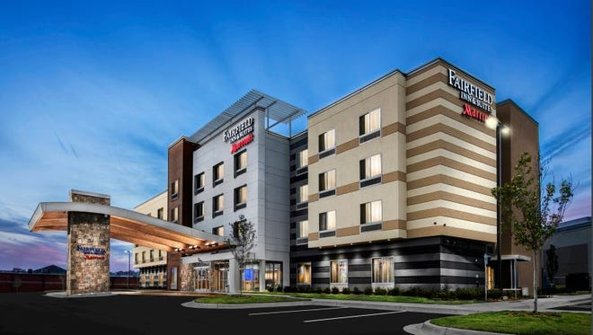 This conceptual drawing from the Marriott corporation shows what the new Fairfield Inn & Suites would look like.
