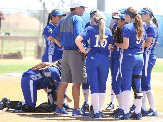 Angelo State University head softball coach Travis Scott reached another milestone with his 800th career win Friday against Midwestern State.